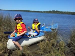 Boys canoeing 2013