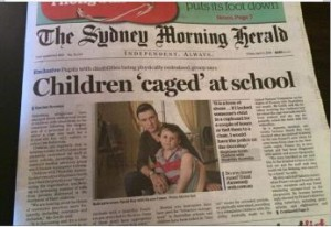 SMH Children caged in school front cover