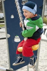 Child playing at playground