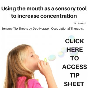Using the mouth as a sensory tool