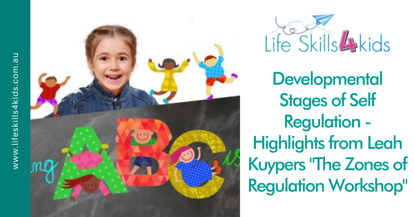 """Developmental Stages of Self Regulation – Highlights from Leah Kuypers """"The Zones of Regulation Workshop"""""""